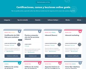 Portal de HubSpot Academy en español