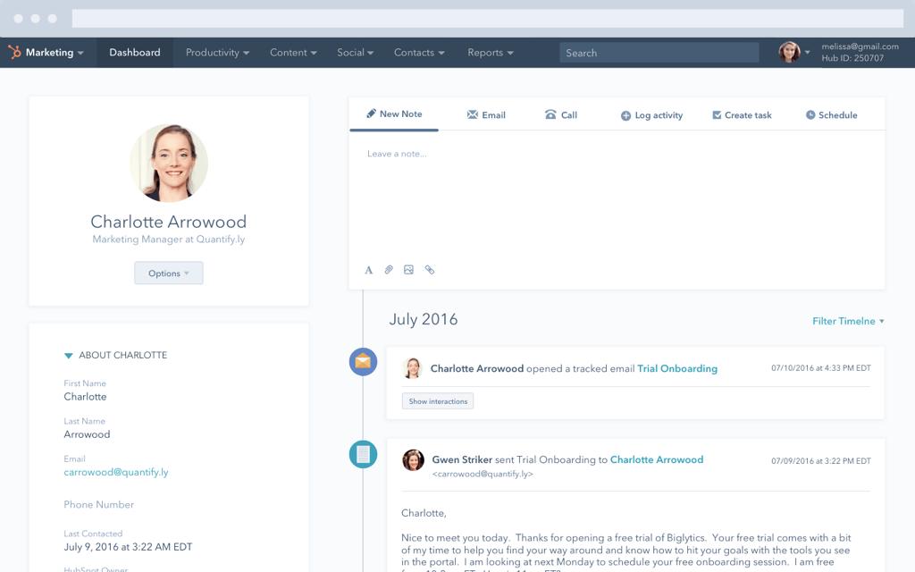 HubSpot - Software para gestión de leads