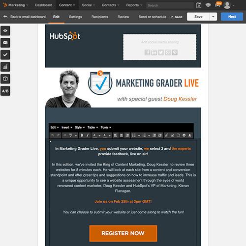 Crear y enviar correos electrónicos fácilmente con HubSpot