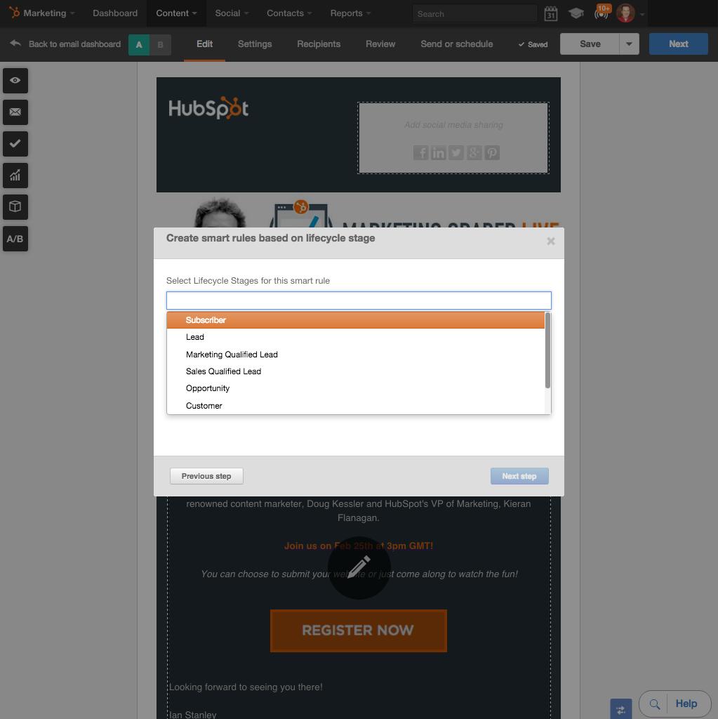 Personalizar cada correo electrónico con Contenido inteligente de HubSpot