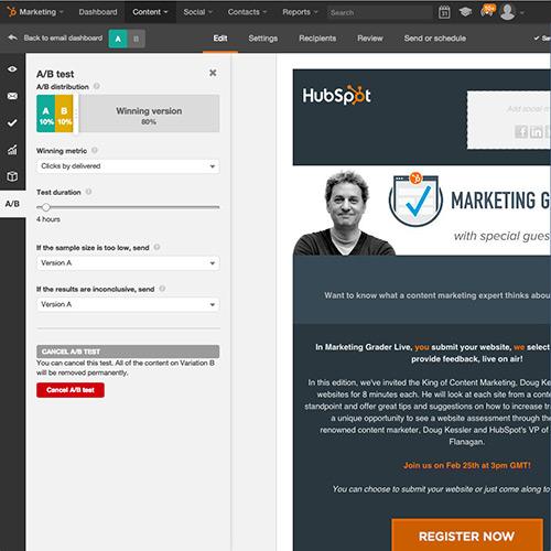 Ejecutar pruebas A/B a todos los elementos de tus correos electrónicos con HubSpot