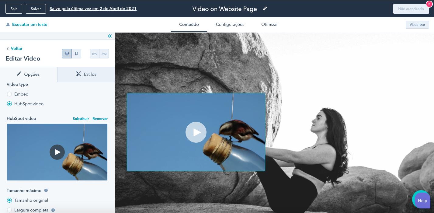 Servicio de video hosting de HubSpot