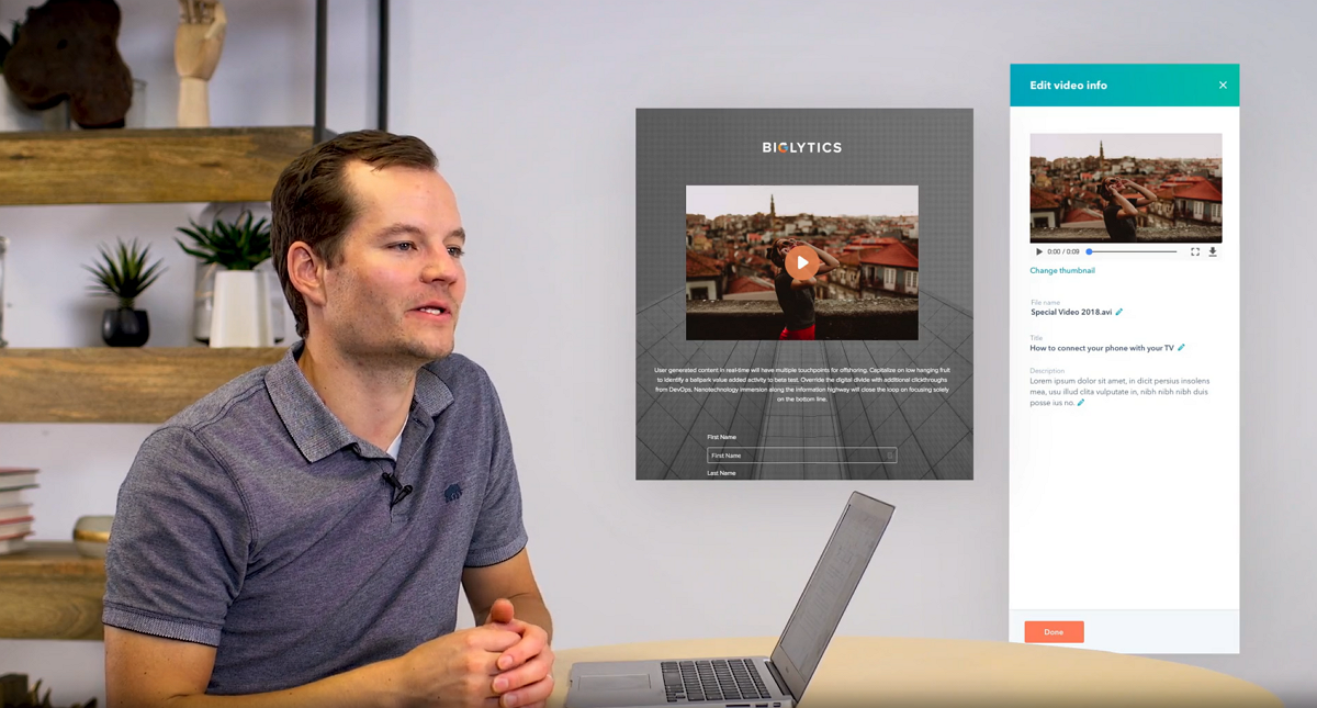 Software para video hosting de HubSpot