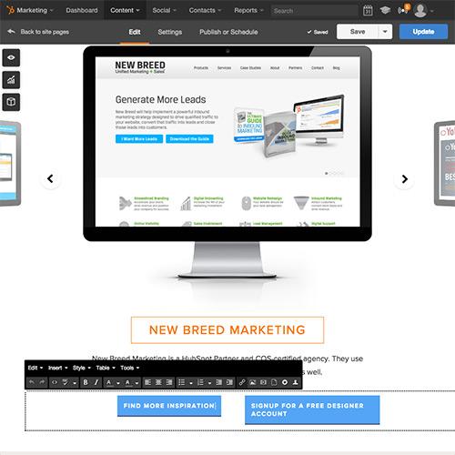 Plataforma de Sitios web de HubSpot - Editar contenido fácilmente