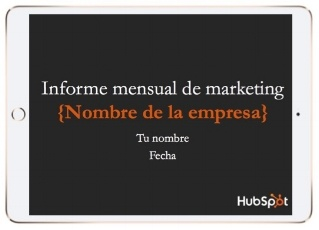 Plantillas para informe mensual de marketing